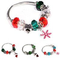 Wholesale Murano Charms Sale - HOT Sale Silver Fit Bracelet With DIY Christmas Charm High Quality Murano Bead For Women Jewelry Gift