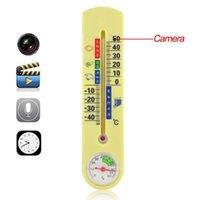 Wholesale Spy Camera Thermometer - 5pcs lot HD 720x480 Spy Thermometer Hidden Camera Motion Activated Home Surveillance Security Camera Mini Concealed DV Video Recorder