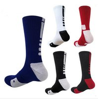 sport en gros achat en gros de-USA professionnels Elite Basketball Chaussettes long genou Athletic Sport Chaussettes Hommes Mode Compression thermique Chaussettes en gros de l'hiver pour hommes