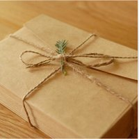 Wholesale Wholesale Paper Stationery Suppliers - Wholesale-50PCS lot New Vintage Kraft paper envelope wedding gift envelopes 160*110mm school and office supplier stationery