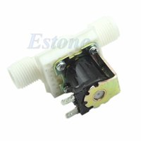 """Wholesale Air Flow Switches - Wholesale- J34 Free Shipping AC220V Electric Solenoid Valve Magnetic N C Water Air Inlet Flow Switch N C 1 2"""""""