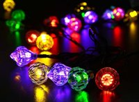Wholesale Magic Candle Led - Diamond Magic Solar AND Battery-Operated Outdoor LED Christmas Lights Diamond Waterproof LED Strings Fairy Holiday Wedding Decoration Lights