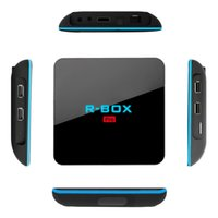 Streaming Media Player R-BOX Pro S912 Android 6.0 Octa-Core Smart TV Box 2G / 16G dupla WIFI Bluetooth 1000M LAN DLNA Miracast AirPlay