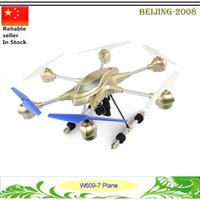 Wholesale Rc Brushless Rtf - HUAJUN W609-7 RC Hexacopter Drones 2.4GHz 4.5CH with 6 Axis Gyro RTF HD collision Quadcopter 2.0MP Camera FPV Drones 010253