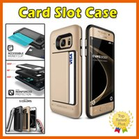 Wholesale K7 Phone - Shockproof Card Slot Slide Phone Wallet Case Cover For Samsung Galaxy Note7 iPhone 7 6 6s Plus LG K7 K10 G3 G4 G5