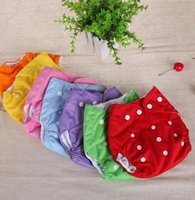 Wholesale Toddler Cloth Nappies - Infant Diapers Nappy Toddler Washable Cloth Diaper Diapers Pants Baby Diaper Covers Nappy Shorts Adjustable Reusable Nappies cover KKA2141