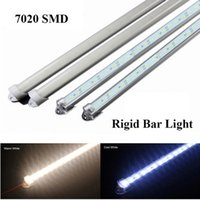 50CM LED Bar Lights DC12V 36Leds SMD 7020 LED super brillante Hard Rigid Strip Bar Light con U Carcasa de aluminio precio de fábrica