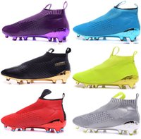 Wholesale High Ankle Boots For Men - New oriGINal mens outdoor high ankle football boots for men ACE 16 pureCONtrol AG FG soccer shoes pure CONtroL 16.1 soccer cleats