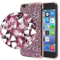 sparkle phone cases - 3D sparkling Diamond Phone Covers for iPhone plus TPU Material and Exotic Electroplating Phone Cases for Samsung s7 edge