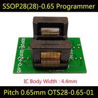 Wholesale Electrical Programmer - SSOP28 Adapter Programming Socket TSSOP28 IC Test Socket Programmer OTS-28-0.65-01 ssop8ssop14ssop16ssop20ssop24 Burn in Socket