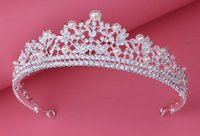 Wholesale Accessories Stores - 2016 Shinning Crystals Pearl Luxury Wedding Tiaras and Crowns In Store Hot Sale Crystal Bridal Tiaras Fashion Wedding Accessories