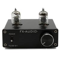 Wholesale Audio Amplifier Tubes - Freeshipping Douk audio RIAA MM Turntable Pre-Amplifier Audio Mini 6J1 Valve Vacuum Tube Pre Amplifier Stereo HiFi Buffer Preamp DC12V