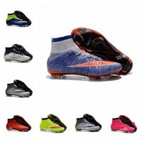 Wholesale Boys Rubber Boots Free Shipping - 2016 new kids soccer shoes high top soccer boots botas de futbol superflys ag boys soccer cleats girls womens football shoes free shipping