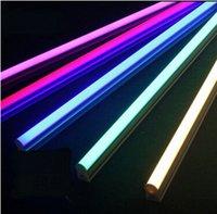 Wholesale T8 Led Flashlight - Multicolour led tube lighting t5 tank green red ktv t8 flashlight lamp