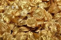Wholesale Gold Artificial Wedding Bouquets - Romantic Artificial Bouquet Gold Silver Rose Petals Wedding Decorations Flowers Wedding Party Garlands Accessories 5cm 100pcs lot ELF002
