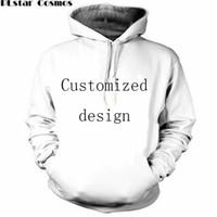 пара толстовки дизайн оптовых-Новая мода пары Мужчины Женщины унисекс индивидуальный дизайн 3D печати толстовки свитер толстовка куртка пуловер топ