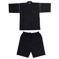 Wholesale Kimono Style Pajamas - Wholesale-Men Cotton Yukata Kimono Suit Men Japanese Traditional Pajamas set Summer Japanese Style Bathrobe 82003