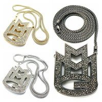 """Wholesale Mmg Chain - Wholesale-NEW ICED OUT MAYBACH MUSIC GROUP MMG PENDANT & 36"""" FRANCO CHAIN NECKLACE FREE SHIPPING"""