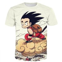 Wholesale funny tshirts women - Wholesale- Cute Kid Goku Fly Prints tshirts tees Men Women Funny Anime t shirts Classic Dragon Ball Z Super Saiyan 3D t shirt Harajuku Tee