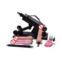 Wholesale Dildo Fuck Machine - Hot Female Sex Machine Automatic Make Love Robot Fucking Machine with Many Dildo Attachment 6 cm Retractable Masturbation Machine
