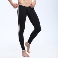 Wholesale Colorful Thermal Underwear - Wholesale-8 colors! sexy long johns pants colorful WJ brand cottonlucky john pants good quality warm-wear thermal underwear #1009CK