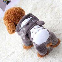 Wholesale anime clothing accessories for sale - Halloween Christmas Cosplay Cartoon Totoro Fun Costume Cute Anime Onesie Pet Dog Puppy Winter Clothes Size XXS L