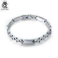 Wholesale Stainless Steel Bangle Accessories - Men Women Jewelry Bracelet links & chains Silver Color Stainless Steel Bracelet Bangle Male Accessory Wholesale GTB33