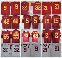 Wholesale Footballs Robert - Men USC Trojans #14 Sam Darnold O.J Simpson 32 Robert Woods 2 Adoree Jackson JuJu Smith-Schuster 9 College football jerseys