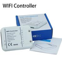 controle wb rgb branco venda por atacado-Mini Wifi Controlador Para Faixa de Led RGB / Branco Quente / Frio Branco, Função de temporização, Modo de Música, DIY 16 milhões de cores, Controle de Smartphone