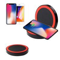 apple сформировал зарядное устройство iphone оптовых-Оптовая универсальный Qi беспроводной зарядки зарядное устройство Pad комплект круглой формы и света для iPhone и Samsung с розничной коробке