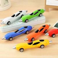 yenilik oyuncak arabalar toptan satış-10 adet / grup Renkler Yenilik Klasik Arabalar Tükenmez Kalemler Yazma Kalemler Çocuk Ödülü Oyuncaklar Ofis Okul Malzemeleri Malzeme Escolar