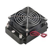cpu serin toptan satış-90mm Su Soğutma CPU Soğutucu Satır Isı Değiştirici Radyatör PC için Fan Ile Toptan