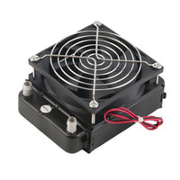 Wholesale cpu water cooling radiator - 90mm Water Cooling CPU Cooler Row Heat Exchanger Radiator With Fan for PC Wholesale