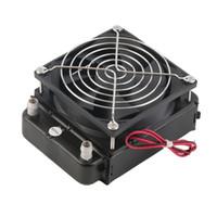 ventiladores de enfriamiento para pc al por mayor-Radiador de 90 mm de refrigeración por agua de la CPU Enfriador del intercambiador de calor con ventilador para PC al por mayor