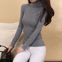 Wholesale- Cashmere Sweater Women Turtleneck Pullover Ladies sweaters Shirt Hot Sale Wool knitted sweater Female Warm Tops Sale Clothing