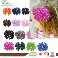 Wholesale Cheap Wholesale Baby Gifts - 2016 cheap Hot ribbon fish V wave shaped rib dovetail butterfly hairpin children baby hair headdress