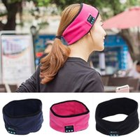 Wholesale Music Hair - Sport Running Yoga Music Hair Band Elastic Running Cycling Bluetooth Headset Smart Speaker Mic Stereo Music headband Headphone KKA2842