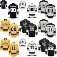 Wholesale Number 32 - Youth Los Angeles Kings Jersey 8 Drew Doughty 12 Marian Gaborik 32 Jonathan Quick 70 Tanner Pearson Custom Hockey Jerseys Any Name Number