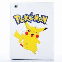 Wholesale Pikachu Mix - poke mon go charmeleon pikachu bulbasaur cartoon pattern tablet case Stand Cover for iPad 6 5 4 air 2 1 Mini 123 Auto sleep wake OPP BAG