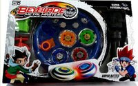 Wholesale Plastic Spinning Tops - Retail 1Pcs Free Shipping 4pcs set Beyblade Arena Spinning Top Metal Fight Beyblad Beyblade Metal Fusion Children Gifts Classic