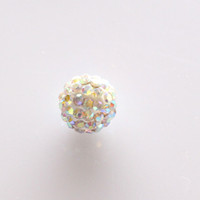 Wholesale Shamballa Supplies - Shamballa Disco Beads Clay Pave Crystal Rhinestone two Colors Charms Statement Jewelry Making Supplies Bracelet handmade