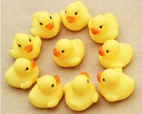Wholesale Cheap Rubber Kid Toys - 50pcs Cheap mini Yellow Rubber Ducks Baby Bath Water toys for sale Kids Bath PVC duck with sound floating duck wholesale