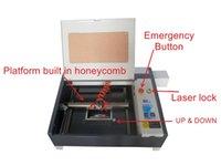 Wholesale Crystal Engraving Machine - Free shipping Laser 4040 50w Co2 laser engraving machine 2d 3d crystal cutting machine Super quality