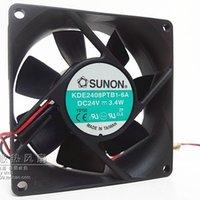 Wholesale Large 24v Fans - 8025 3.4W 8M 24V 8 cm large air volume converter chassis fan KDE2408PTB1