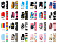 Wholesale Nail Patch Decal - New Fashion Polish Nail Sticker Nail art nail Patch convenience decals k serious colorful