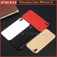 Wholesale Iphone Back Glass Door - For iPhone X Style Back Housing Cover Frame Aluminum Metal Glass Back Battery Door Replacement For iPhone 6 6s 6Plus 6s Plus to iPhone X