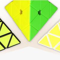 Wholesale Intelligence Pyramid Toys - Intelligence Game Cube Classic Toys Sticker Magic Square Cubo Magico Pyramid Puzzle Fidget Cube Neo New Year Fun Toys 60B0267