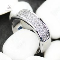 Wholesale First Ring - Copper Rhodium Plated Classic Rings White Cubic Zirconia Sporty MN3262 sz#6 7 8 9 Noble Generous Favourite Best Sellers First class products