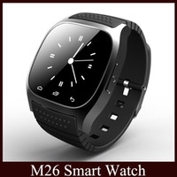 Smart Uhr M26 Bluetooth Sport Smartwatches Für Apple IOS iPhone 6 6 S Samsung S5 / S4 / Hinweis HTC Android Telefon vs U8 dz09 DHL
