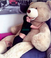 плюшевые медведи оптовых-Dorimytrader 340 см 260 см 200 см огромный плюшевый плюшевый мишка обложка кожи мягкая игрушка улыбающийся медведь корпуса (без хлопка чучела) Бесплатная доставка DY61021